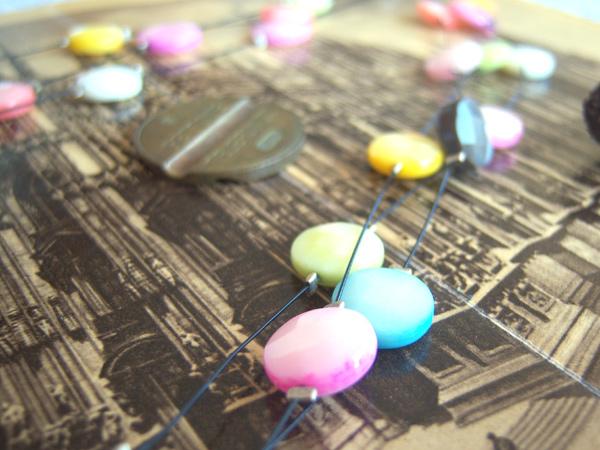 画像1: 上品ヴェネツィアングラス 控えめトーンの3連ネックレス 【カラー・マルチ】