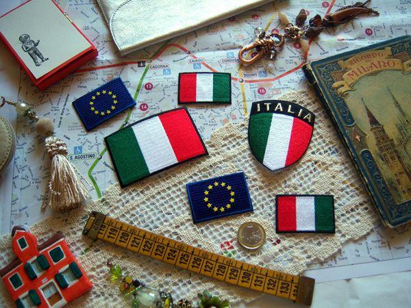 画像2: 欧州旗の刺繍ワッペン イタリア国旗のワッペンと合わせて使えば◎ 【カラー・ブルー】【カラー・イエロー】
