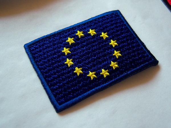 画像1: 欧州旗の刺繍ワッペン イタリア国旗のワッペンと合わせて使えば◎ 【カラー・ブルー】【カラー・イエロー】