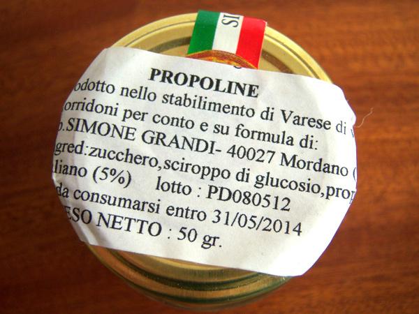 画像4: イタリアの濃縮プロポリス入りキャンディー 蜂蜜 【カラー・ブラウン】【カラー・グリーン】