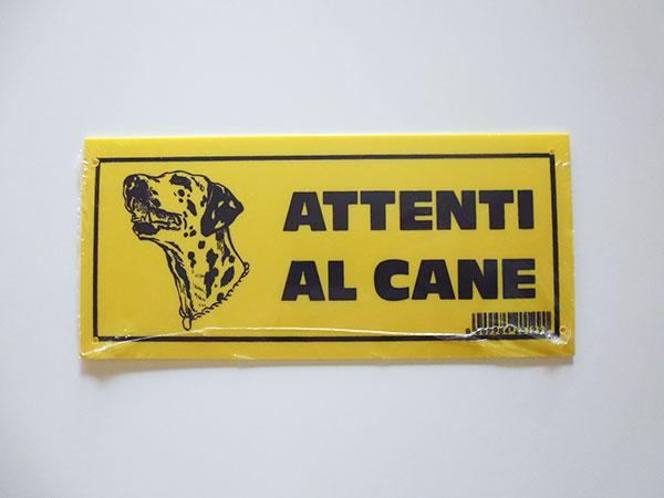 画像1: イタリア語表記 犬に注意 ATTENTI AL CANE 【カラー・イエロー】【カラー・ブラック】