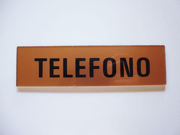 画像1: イタリア語表記シール貼付けタイプ  電話 TELEFONO【カラー・イエロー】【カラー・ブラック】
