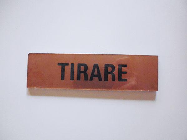 画像1: イタリア語表記シール貼付けタイプ 引く TIRARE【カラー・イエロー】【カラー・ブラック】