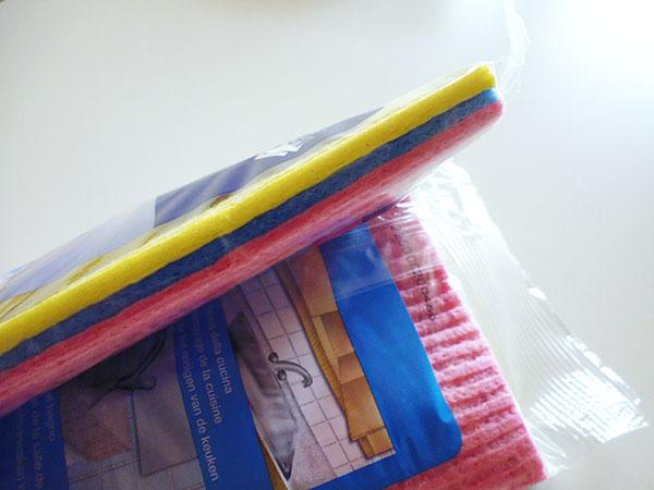 画像3: 便利なスポンジ布巾 【カラー・イエロー】【カラー・ピンク】【カラー・ブルー】