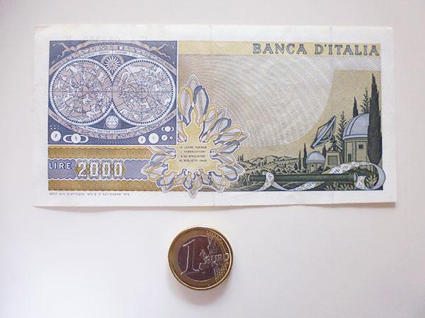 画像3: イタリアのリラ紙幣 2000リラ ガリレオ・ガリレイ【カラー・グリーン】
