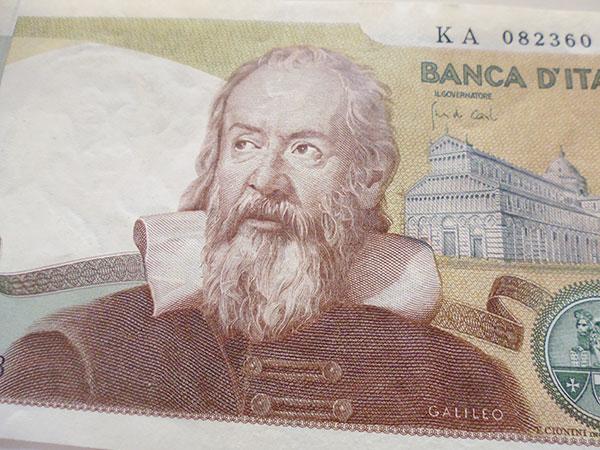 画像4: イタリアのリラ紙幣 2000リラ ガリレオ・ガリレイ【カラー・グリーン】