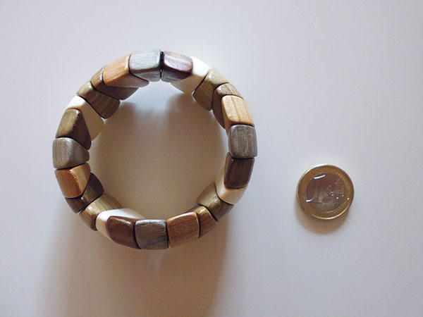 画像2: ロシア製 木製ブレスレット 手作りの美しさ 【カラー・ブラウン】【カラー・グリーン】【カラー・ホワイト】