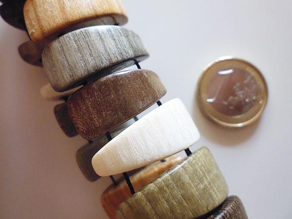 画像3: ロシア製 木製ブレスレット 手作りの美しさ 【カラー・ブラウン】【カラー・グリーン】【カラー・ホワイト】