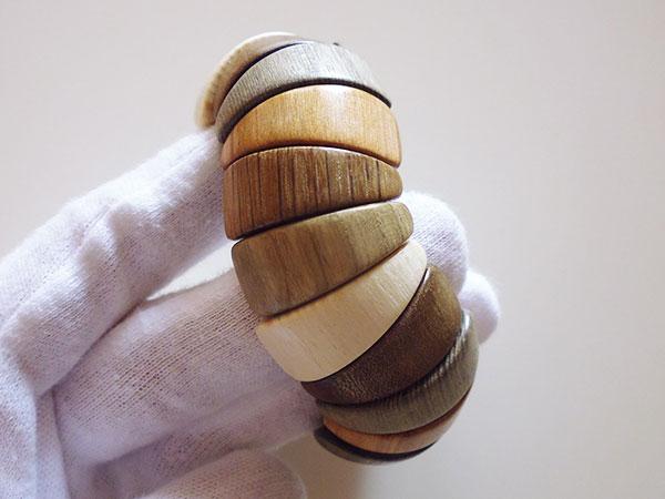 画像4: ロシア製 木製ブレスレット 手作りの美しさ 【カラー・ブラウン】【カラー・グリーン】【カラー・ホワイト】