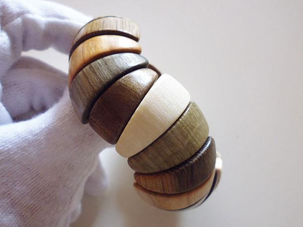 画像5: ロシア製 木製ブレスレット 手作りの美しさ 【カラー・ブラウン】【カラー・グリーン】【カラー・ホワイト】