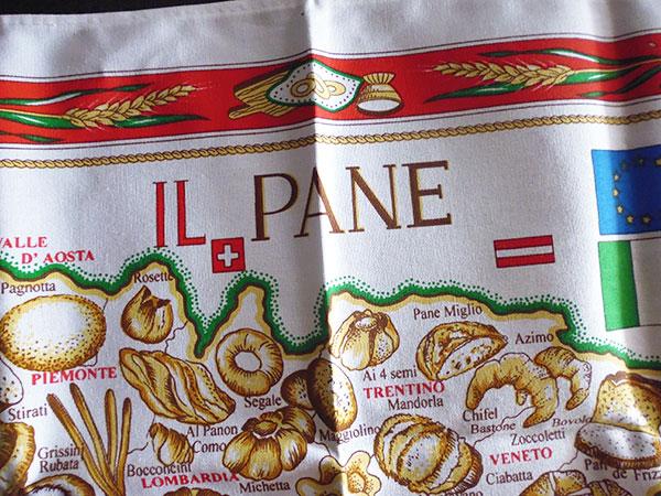 画像2: イタリア・パンマップ☆イタリア製コットン大判布巾 【カラー・マルチ】