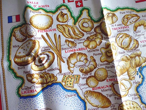 画像3: イタリア・パンマップ☆イタリア製コットン大判布巾 【カラー・マルチ】