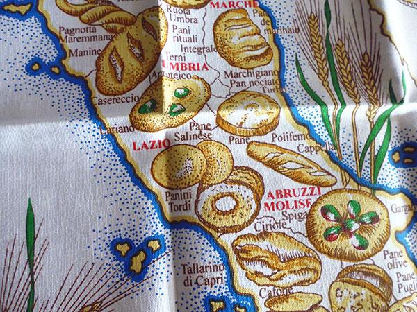 画像4: イタリア・パンマップ☆イタリア製コットン大判布巾 【カラー・マルチ】