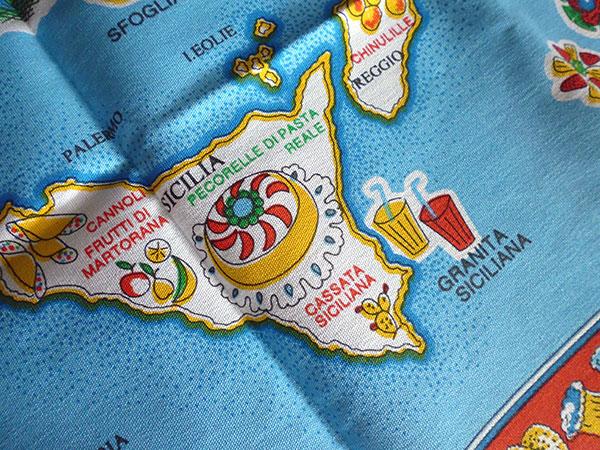画像5: イタリア・お菓子マップ☆イタリア製コットン大判布巾 【カラー・マルチ】