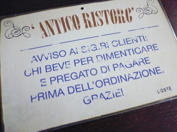 画像2: イタリア語パネル 忘れたい事があってお酒を飲まれる方は… ANTICO RISTRO【カラー・イエロー】