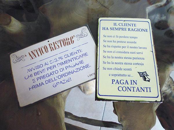 画像3: イタリア語パネル 忘れたい事があってお酒を飲まれる方は… ANTICO RISTRO【カラー・イエロー】