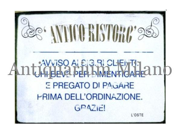 画像1: イタリア語パネル 忘れたい事があってお酒を飲まれる方は… ANTICO RISTRO【カラー・イエロー】