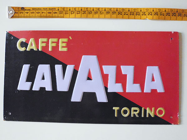 画像2: 【一点限り】イタリア LAVAZZA ラヴァッツァ アンティークサインプレート 【カラー・ブラック】【カラー・レッド】