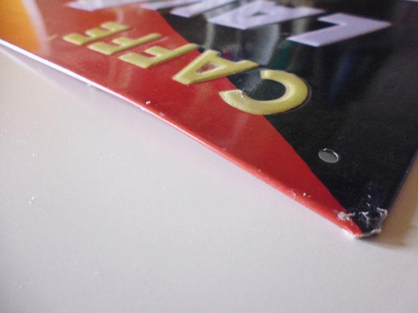 画像4: 【一点限り】イタリア LAVAZZA ラヴァッツァ アンティークサインプレート 【カラー・ブラック】【カラー・レッド】