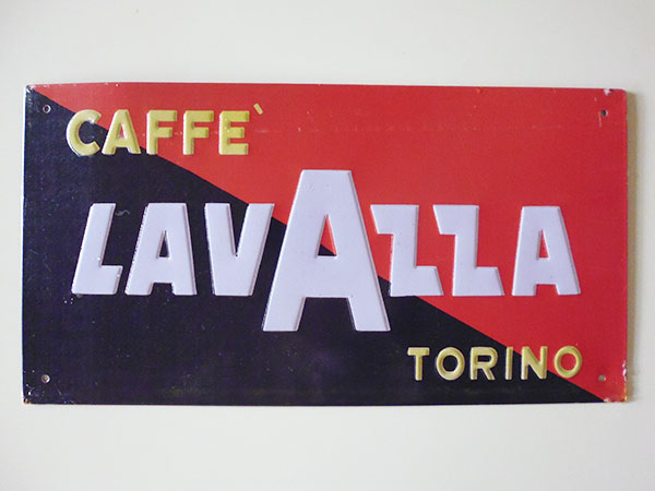画像1: 【一点限り】イタリア LAVAZZA ラヴァッツァ アンティークサインプレート 【カラー・ブラック】【カラー・レッド】