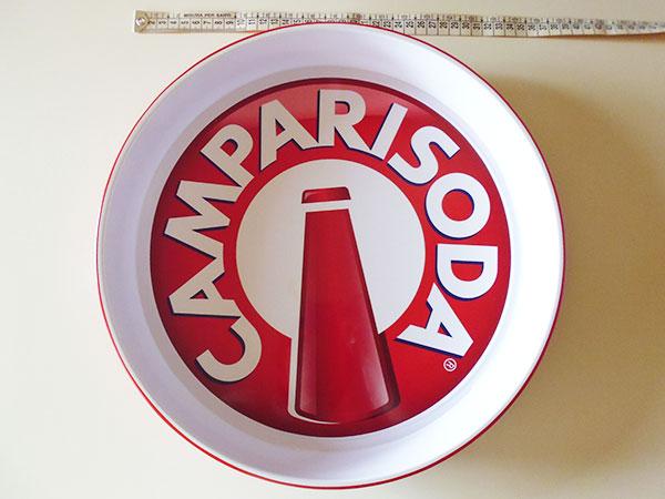 画像2: 【一点限り】イタリア CAMPARI SODA カンパリソーダ アンティークトレー 【カラー・ホワイト】【カラー・レッド】