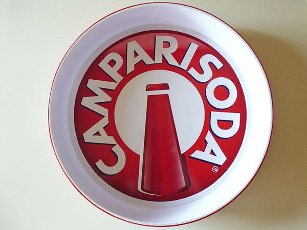 画像1: 【一点限り】イタリア CAMPARI SODA カンパリソーダ アンティークトレー 【カラー・ホワイト】【カラー・レッド】