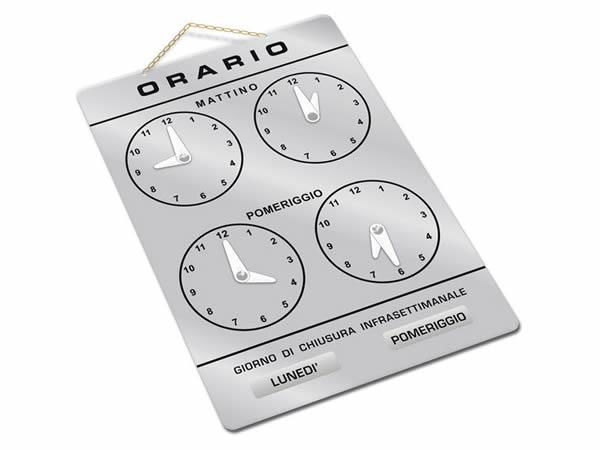 イタリア語表記営業時間表 ORARIO DI APERTURA 時計・チェーン・吸盤付き