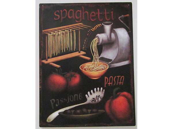 画像1: 【数量限定】アンティーク風 サインプレート スパゲッティ Spaghetti【カラー・ブラック】【カラー・ブラウン】