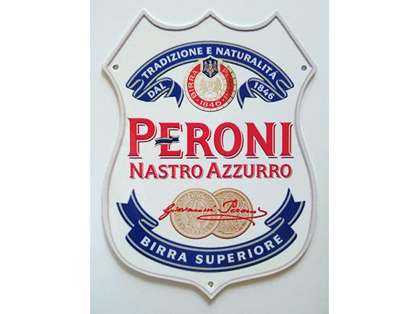 【数量限定】アンティーク風 サインプレート イタリアビール PERONI NASTRO AZZURO BIRRA SUPERIORE