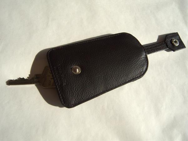 画像2: シックな小物 革のキーカバー付きキーホルダー 【カラー・ブラウン】