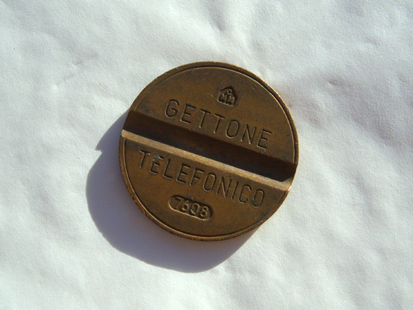 画像3: 選べるイタリアのアンティーク・コイン Gettone telefonico ジェットーネ・テレフォニコ 【カラー・ブラウン】